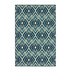 Ikat Diamonds Jenn Outdoor Rug, 7x10