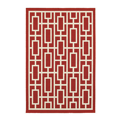 Geometric Trellis Jenn Area Rug, 7x10