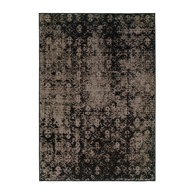 Black and Gray Persian Mallory Area Rug, 5x8