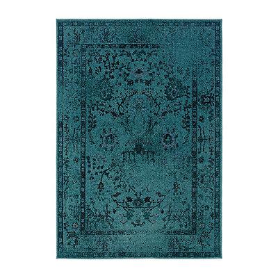 Aqua Persian Mallory Area Rug, 5x8