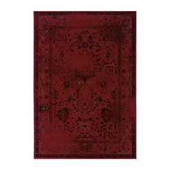 Red Persian Mallory Area Rug, 5x8