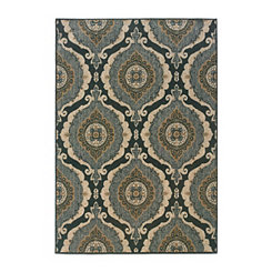 Ogee Medallion Reed Area Rug, 5x8