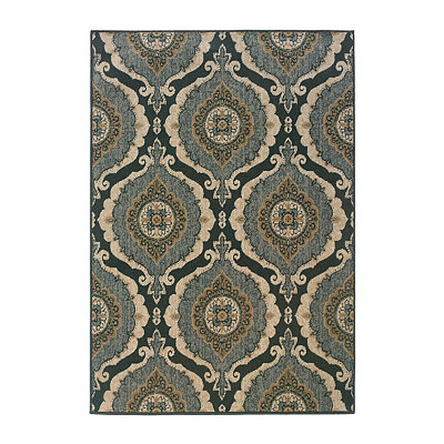 Ogee Medallion Reed Area Rug, 7x10