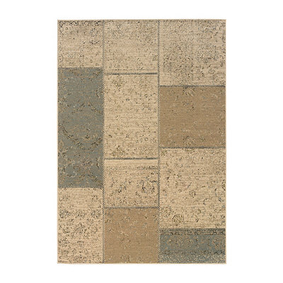 Transitional Blocks Reed Area Rug, 7x10