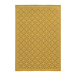 Yellow Trellis Salina Area Rug, 5x8