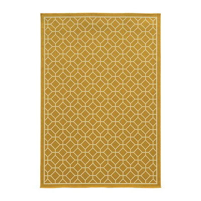 Yellow Trellis Salina Area Rug, 7x10
