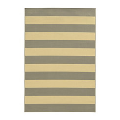 Gray Stripes Salina Outdoor Rug, 7x10