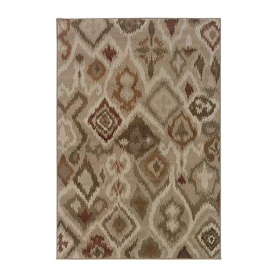 Abstract Ikat Skylar Area Rug, 5x8