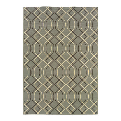 Neutral Trellis Veranda Area Rug, 5x8