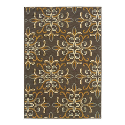 Open Medallion Veranda Area Rug, 5x8
