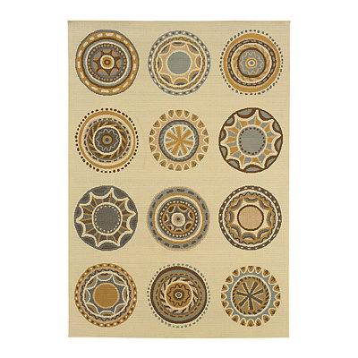 Exotic Medallions Veranda Area Rug, 7x10