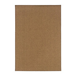 Dark Tan Vista Area Rug, 5x8