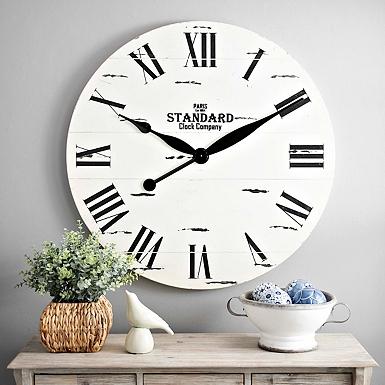 wall clock living room. Jacob White Wood Plank Clock Clocks  Wall Desk Kirklands
