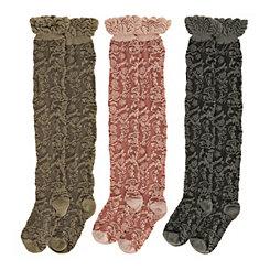 Floral Pattern Boot Socks