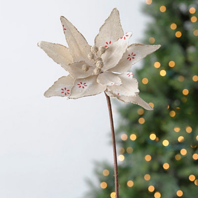 Snowflake Poinsettia Stem