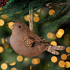 Leather Bird Ornament