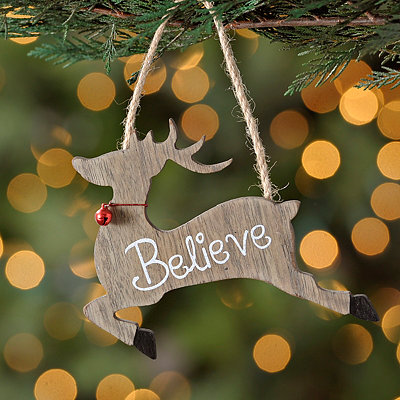 Believe Prancing Deer Ornament