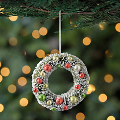 Decorative Frosted Wreath Ornament