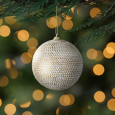 White Sequin Ornament
