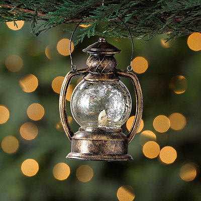 Bronze Antique LED Lantern Ornament