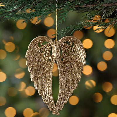 Gold Angel Wing Ornament