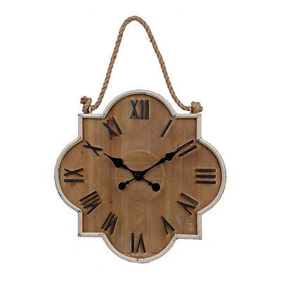 Collin Cream Wooden Clock