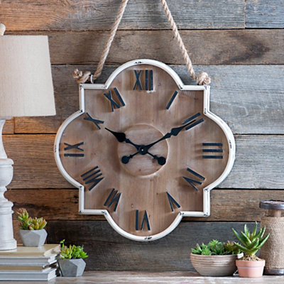 Collin Cream Wooden Clock