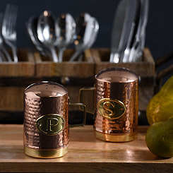 Hammered Copper Salt and Pepper Shaker Set