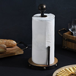 Wood and Metal Paper Towel Holder