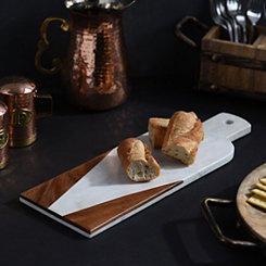 Wood and Marble Paddle Cutting Board