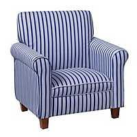 Blue Striped Kids Club Chair