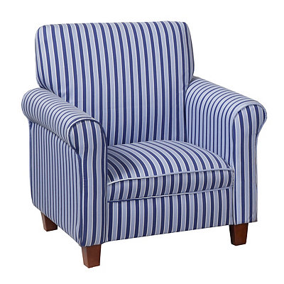 Blue Striped Kids Club Chair
