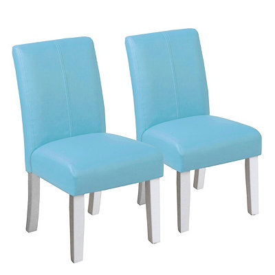 Turquoise Kids Parsons Chairs, Set of 2