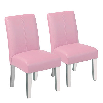 Pink Kids Parsons Chairs, Set of 2