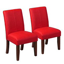 Red Kids Parsons Chairs, Set of 2