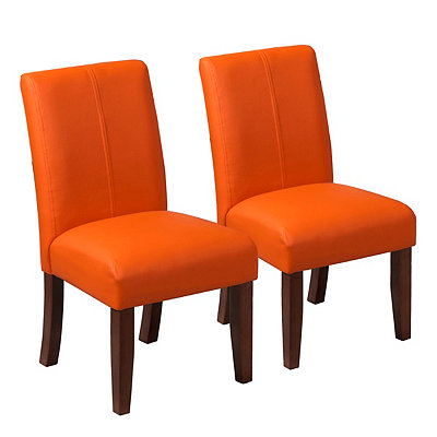 Orange Kids Parsons Chairs, Set of 2