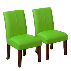 Green Kids Parsons Chair, Set of 2