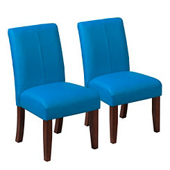 Blue Kids Parsons Chairs, Set of 2