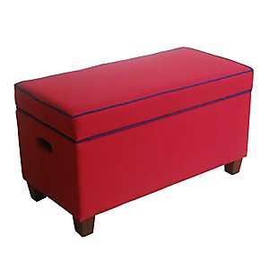 Red Kids Storage Bench