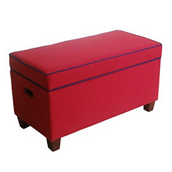 Red Kids Storage Bench