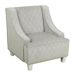 Gray Quatrefoil Kids Swoop Chair