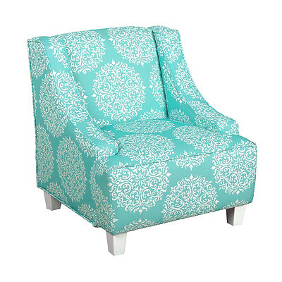 Turquoise Medallion Kids Swoop Chair