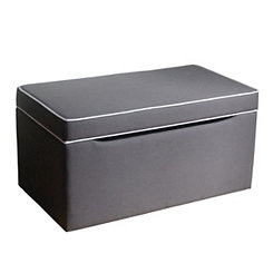 Upholstered Gray Kids Storage Bench