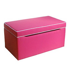 Upholstered Pink Kids Storage Bench