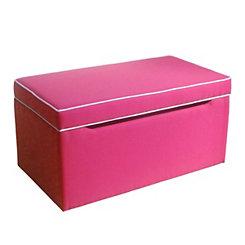Upholstered Pink Kids Storage Bench