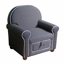 Gray Kids Storage Chair
