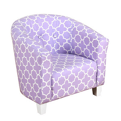 Purple Quatrefoil Kids Tub Chair