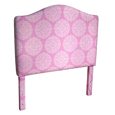 Pink Medallion Print Kids Twin Headboard