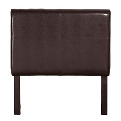 Brown Faux Leather Kids Twin Headboard