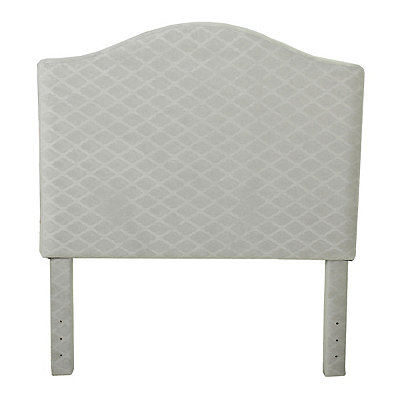 Gray Quatrefoil Kids Twin Headboard